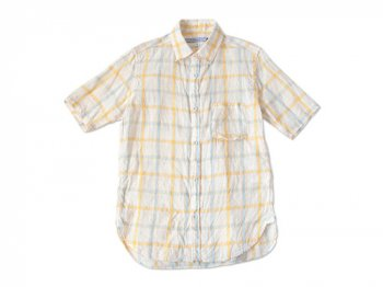 ordinary fits S/S LITHUANIA LINEN SHIRT CHECK