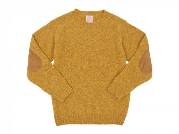 BRICK CREW NECK KNIT パッチ付き CUMIN
