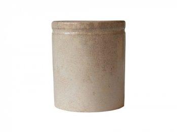 ベージュの陶器ポット02
