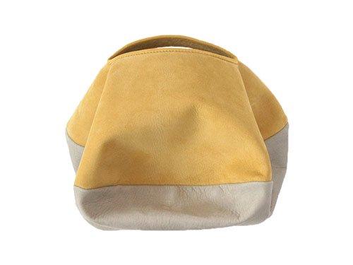 カンダミサコ circle bag mini 30:MUSTARD x LIGHT GRAY