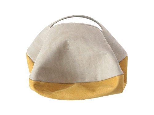 カンダミサコ circle bag mini 31:LIGHT GRAY x MUSTARD