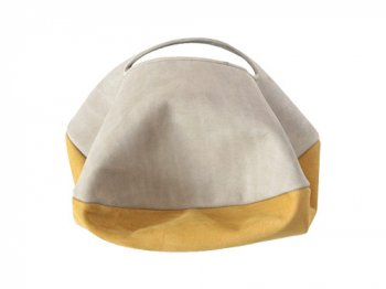 カンダミサコ circle bag mini 31:LIGHT GRAY x MUSTARD