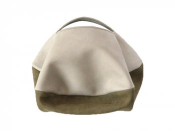 カンダミサコ circle bag mini 33:LIGHT GRAY x KHAKI