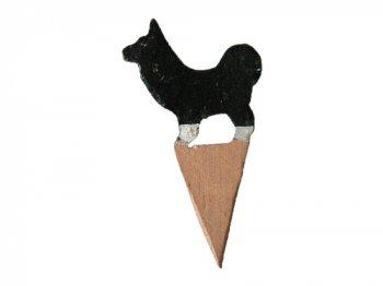 木の動物 01犬