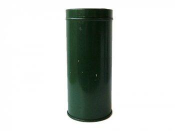 グリーンの丸缶 01