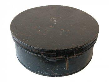 フック付きブラック丸缶
