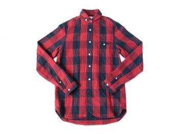 maillot sunset buffalo check round work shirts RED x NAVY