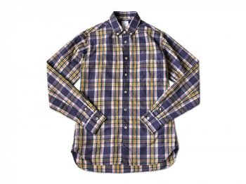 maillot libral broad check shirts PURPLE