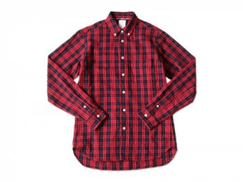 maillot libral indigo check B.D. shirts RED