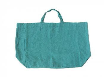 LINGE PARTICULIER リネントートバッグ TURQUOISE
