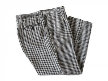 ordinary fits LINEN TUCK CROPPED HOUND'S-TOOTH