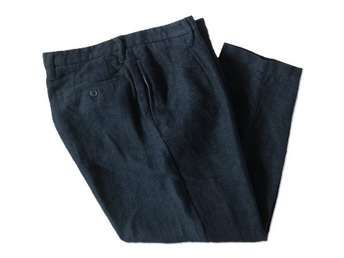 ordinary fits LINEN TUCK CROPPED NAVY