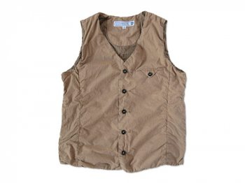 ordinary fits SHIRRING VEST BEIGE