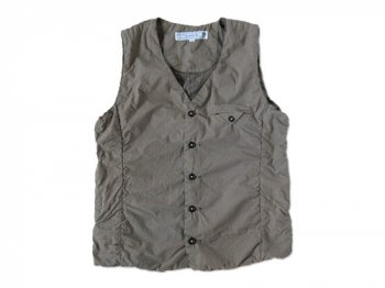 ordinary fits SHIRRING VEST GRAY