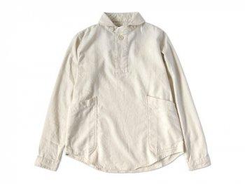 LOLO ビエラ起毛プルオーバーシャツ OFF WHITE