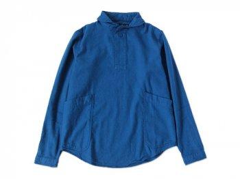 LOLO ビエラ起毛プルオーバーシャツ BLUE