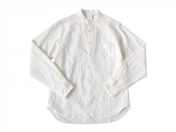 【別注】 maillot sunset stand collar shirts WHITE