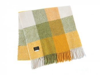 Studio Donegal TWEED MUFFLER GREEN x YELLOW x WHITE