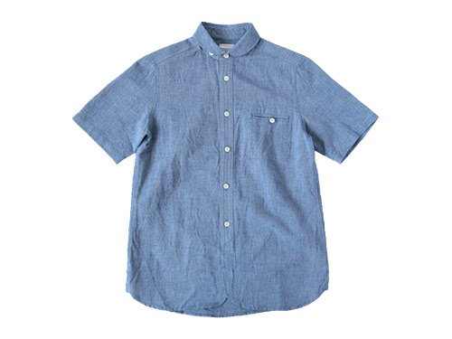 maillot sunset round work S/S shirts BLUE