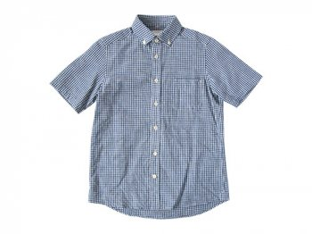 maillot sunset gingham B.D. S/S shirts BLUE x WHITE