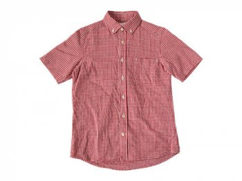 maillot sunset gingham B.D. S/S shirts RED x WHITE