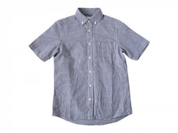 maillot sunset gingham B.D. S/S shirts BLUE x PURPLE
