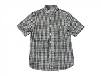 maillot sunset gingham round work S/S shirts BLACK x WHITE