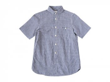 maillot sunset gingham round work S/S shirts BLUE x PURPLE