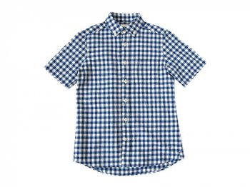 maillot sunset big gingham B.D. S/S shirts BIG BLUE x WHITE