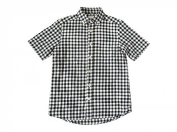 maillot sunset big gingham B.D. S/S shirts BIG BLACK x WHITE