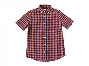 maillot sunset big gingham B.D. S/S shirts BIG RED x NAVY