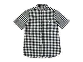 maillot sunset big gingham round work S/S shirts BIG BLACK x WHITE