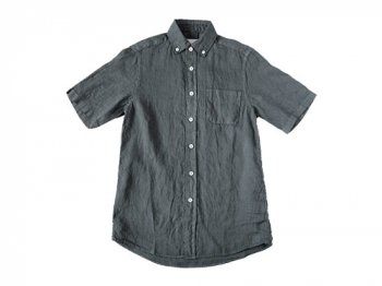maillot sunset linen B.D. S/S shirts CHARCOAL