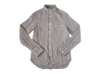 maillot sunset linen round work shirts BEIGE