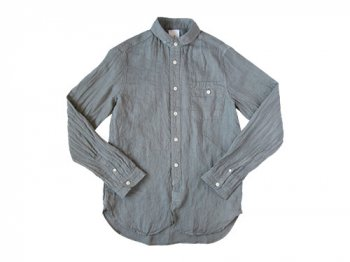 maillot sunset linen round work shirts GRAY