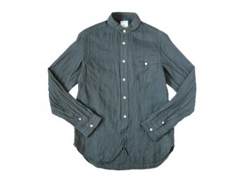 maillot sunset linen round work shirts CHARCOAL