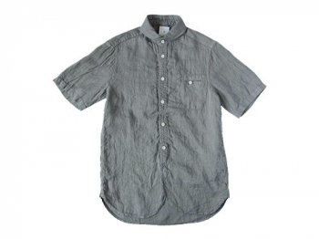 maillot sunset linen round work S/S shirts GRAY