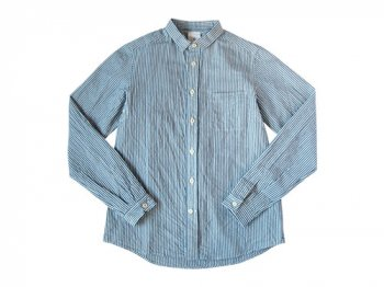 maillot sunset stripe shirts WHITE x BLUE