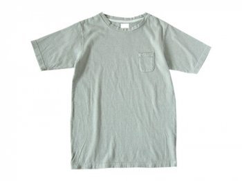 maillot crew neck pocket T BLUE GRAY