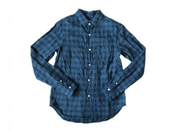ordinary fits STANDARD SHIRT CHECK INDIGO