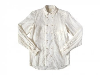 TATAMIZE DOUBLE BRESTED LINEN SHIRTS OFF WHITE