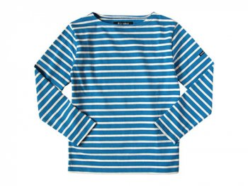 Le minor by DAILY WARDROBE INDUSTRY カットソー MONDAY 2nd(BLUE x ECRU)