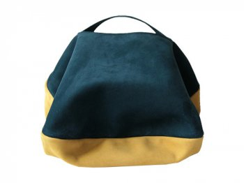 カンダミサコ circle bag MIDI 2:DARK BLUE x MUSTARD