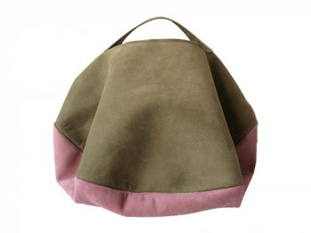 カンダミサコ circle bag MIDI 5:KHAKI x GRAY PINK