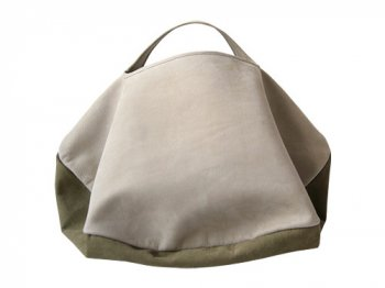 カンダミサコ circle bag MIDI 6:LIGHT GRAY x KHAKI