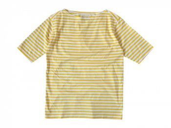Charpentier de Vaisseau Middle Stripe Boat Neck Tee YELLOW x WHITE