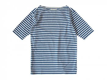 Charpentier de Vaisseau Middle Stripe Boat Neck Tee BLUE x WHITE
