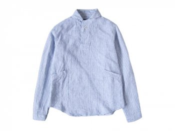 LOLO ストライプリネンプルオーバーシャツ BLUE STRIPE