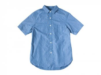 ordinary fits LIGHT WORK S/S SHIRT BLUE