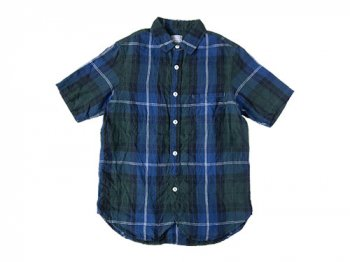 ordinary fits LIGHT WORK S/S SHIRT CHECK BLACK
